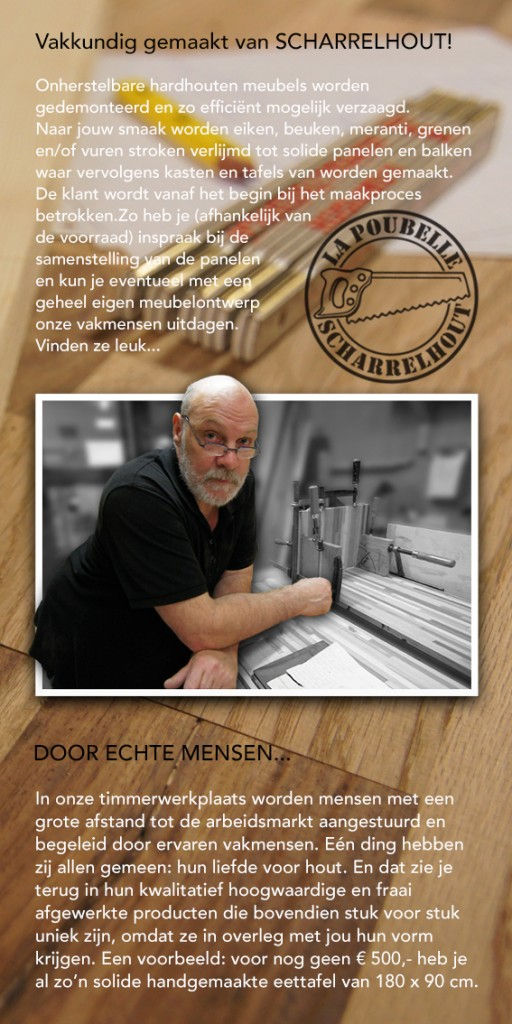 Scharrelhout website